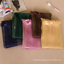 Women long fashion hijab scarf dubai stone gliter shimmer shine cotton wide hijab scarf