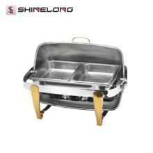C080 Rectangular chapado en titanio Roll Top plato de frotamiento Set / Combustible de fricción