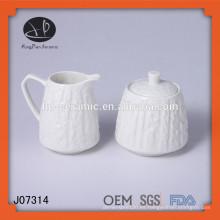 Bowl de leche Bowl de azúcar, olla de azúcar y olla de leche, azúcar de cerámica y olla de leche