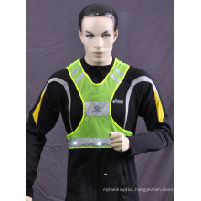 100% Polyester Mesh Safety Vest with Reflective Tape for Running