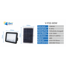 holofote led movido a energia solar