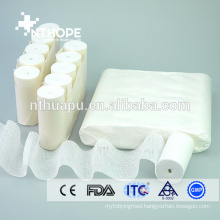 Medical hemostatic cotton gauze bandage for wound dressing