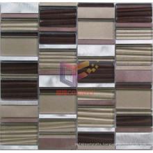 Wave Glass Mix Colored Aluminium Mosaic (CFA59)