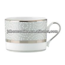 Tasse à café gaufrée en os chrome simple et facile