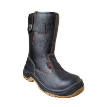 Casual Style Split Embossed Leather Safety Boots (HQ05058)