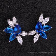 graduación regalo moda azul pendientes
