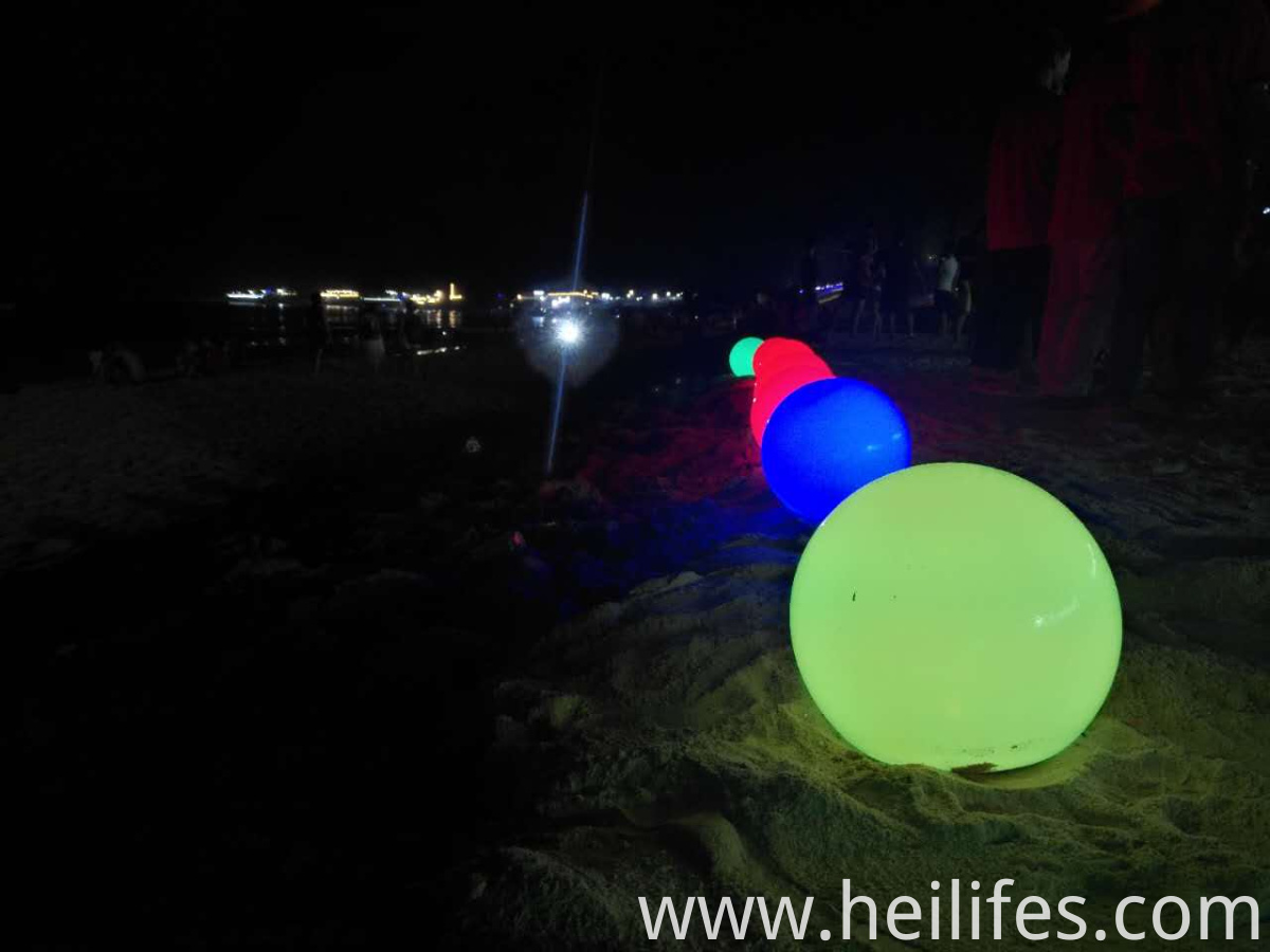 sand beach led ball light