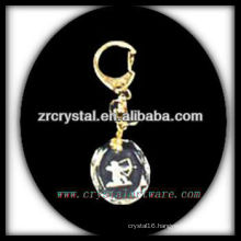 LED crystal keychain with 3D laser engraved image inside and blank crystal keychain G028