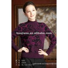 suéter de la cachemira del invierno de las mujeres del cuello simulado de la moda