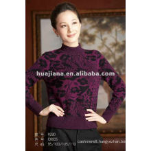 fashion mock neck women's winter cashmere sweater