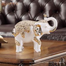 Kundenspezifische handgefertigte Handwerk Harz Elefanten Statuen für zu Hause Dekoration