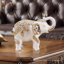 Custom handmade crafts resin elephant statues for home decoration