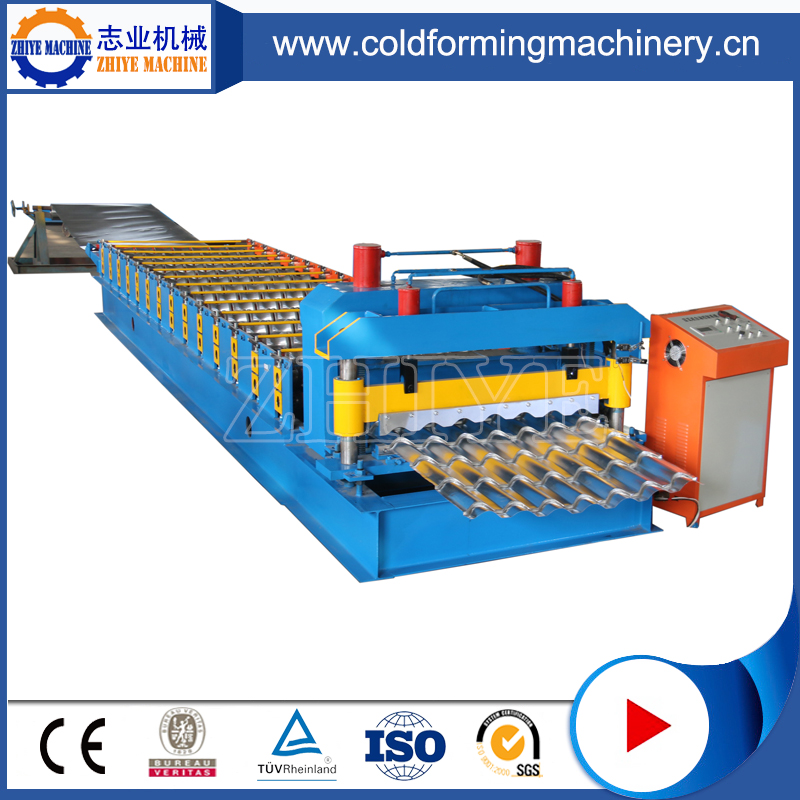 Warna Steel Coil Glazed Roofing Tiles Machine