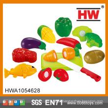 2015 New Popular Play Kids Plastic Toy Food Set