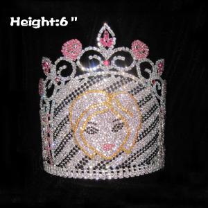 Coronas de cristal de 6 pulgadas para chicas preciosas