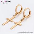 95859 Xuping Jewelry 18K vergoldet Kreuz Ohrring mit Kupferlegierung