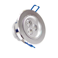 3w redondo levou recessed down light