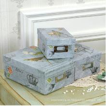 Calidad de impresión de almacenamiento de cajas de papel con soporte de etiqueta de metal