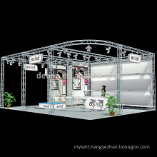 2017 6*6M Trade show exhibition booth design and building services , KIOSK truss roof construction