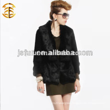 2017 Wholesale Knitted Rabbit Fur Cothing Female Plus Size Coat