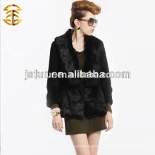 2017 Оптовые трикотажные меховые пальто с длинным рукавом с длинным рукавом