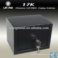 Caja de acero pequeña con llave mecánica