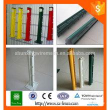 Profesional de producción de polvo cubierto valla post / desmontable postes de metal esgrima