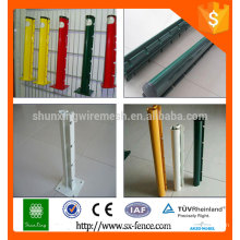 Professional production powder coated fence post/removable metal fencing posts