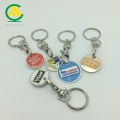 Promotional Shopping Cart Trolley Coin Keyring