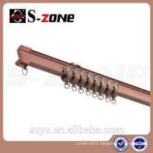 Hot sale aluminum curtain rail single or double curtain track