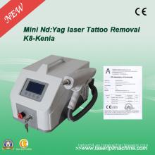 Profesional Q Switch ND YAG máquina láser para la eliminación de tatuajes