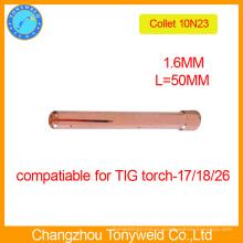 10N23 сварочная горелка TIG цанга 1.6 мм для сварочного аппарата