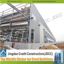 Edificio de estructura de acero ligero de almacén de fábrica de bajo costo