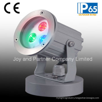 IP65 3W RGB Outdoor LED Garden Spot Light with Base (JP83033)
