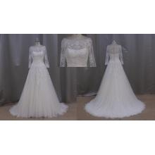 Vestidos de noiva com babados de manga comprida