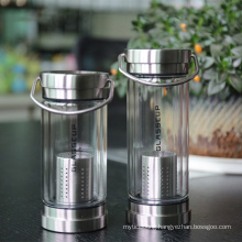Stainless Steel Lid Sports Bottle with Strainer