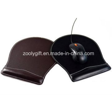 Classical PU Leather Mouse Pad with Write Rest