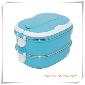 Plastic Stainless Steel Lunch Box for Promotional Gifts (HA62013)