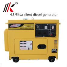 5.0 кВА тихий дизельный генератор цена в Кении современное Промышленное использование малого Ядрового доказательства тепловозный молчком Тип