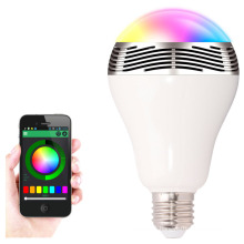 Android iOS app control color Smart bluetooth led speaker bulb