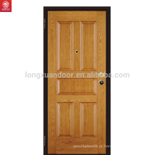 Novo design interior sólido América carvalho porta de madeira