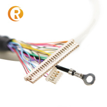 Custom 20 30 40 Pin Connector LVDS Cable for LCD Panel with tab