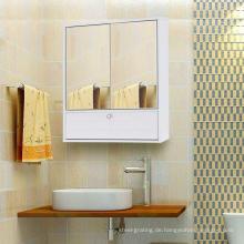 Weißes Badezimmermöbel mit 2 Türen und Spiegel