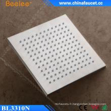 Ss304 inoxydable brossé carré 10 pouces tête de douche cascade filtrée