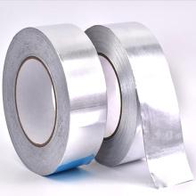 Fita adesiva de folha de alumínio para duto impermeável e anti-vazamento sem revestimento de papel