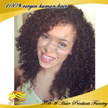 Wholesale Remy indiano cabelo humano kinky curly perucas glueless completa base de seda peruca do laço