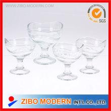 Ice Ream Cup Helado Servir Copas Copas de helado de vidrio