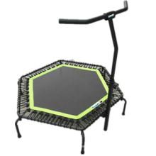 Equipamento de ginásio clube hexágono trampolim com punho de salto