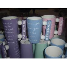 Taza de café de cerámica con mango especial