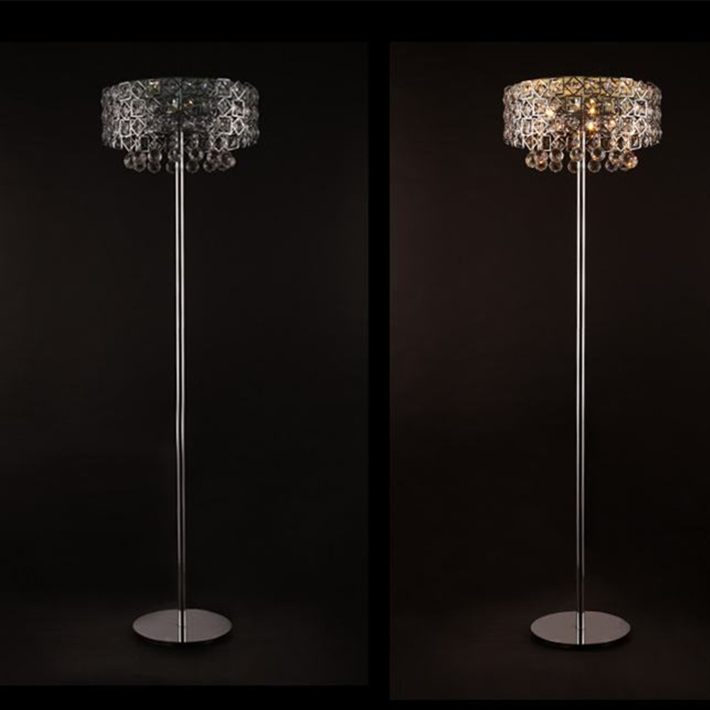 vintage luxurious crystal floor lamp